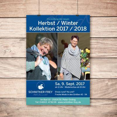 Plakat Modenschau Herbst 2017